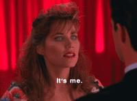 Caroline (or her dopperlganger) appears to Cooper in Twin Peaks
