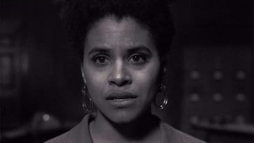 "Zazie Beetz as Sophie, the writer of the episode within an episode of The Twilight Zone ""Blurryman"""