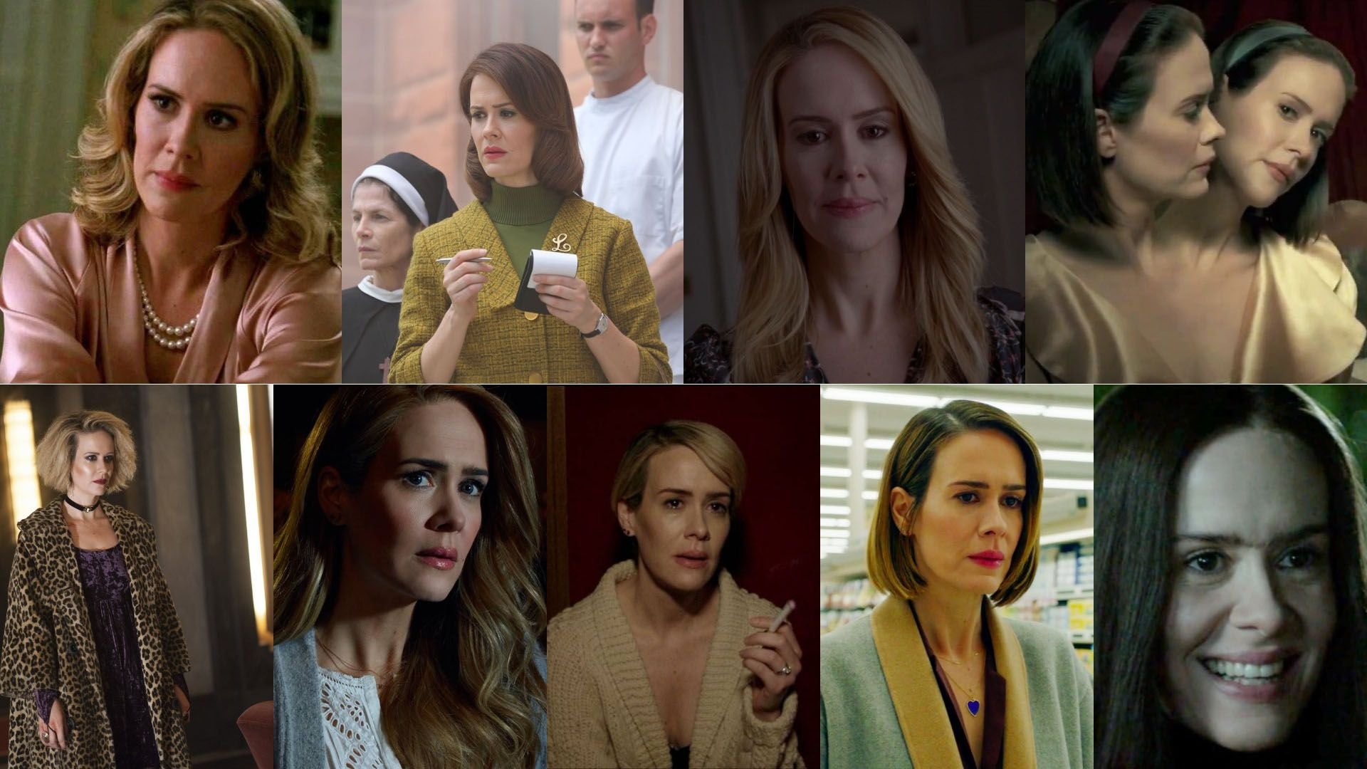 Sarah Paulson's characters in American Horror Story on FX