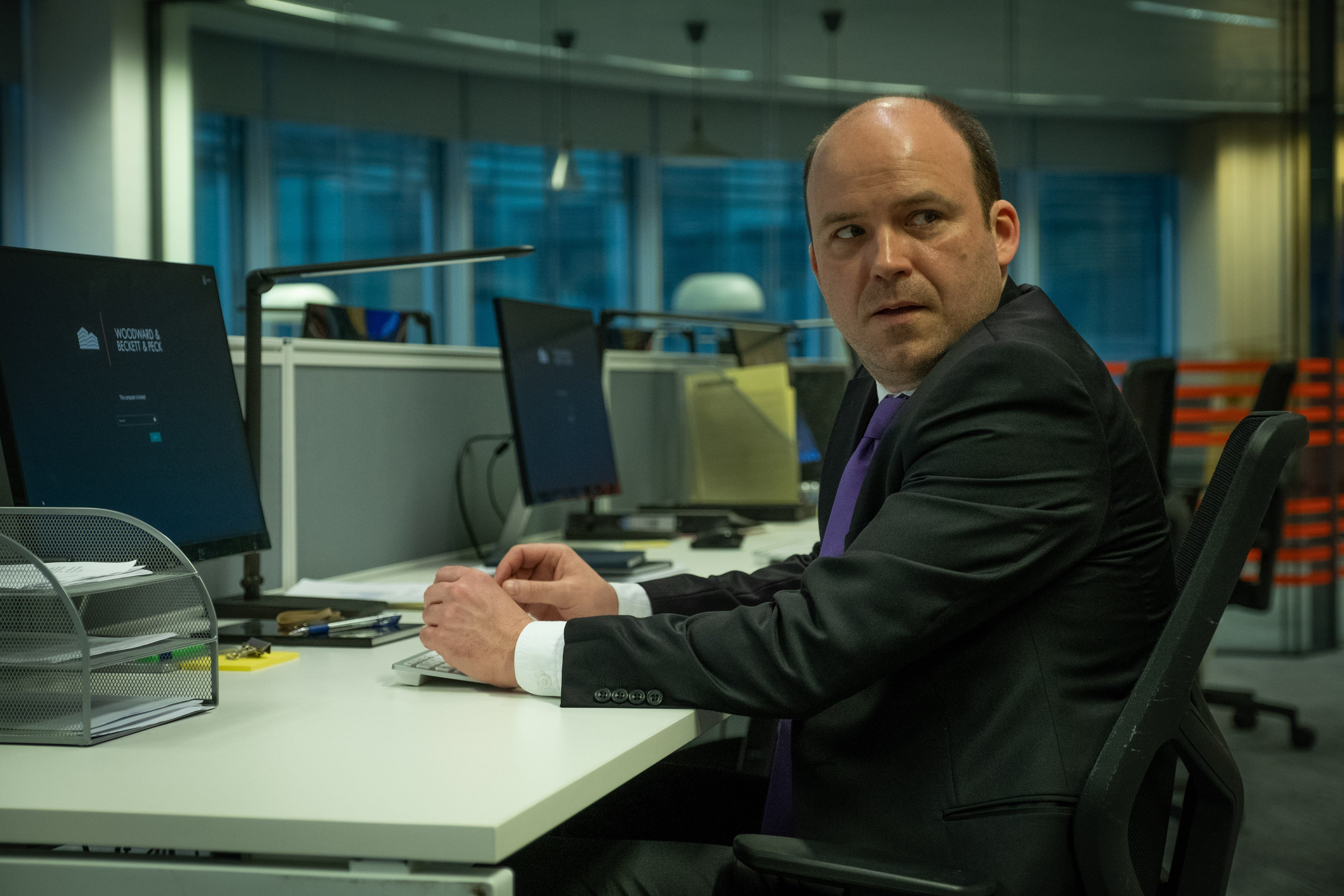 Rory Kinnear as Stephen Lyons in the BBC and HBO show Years and Years