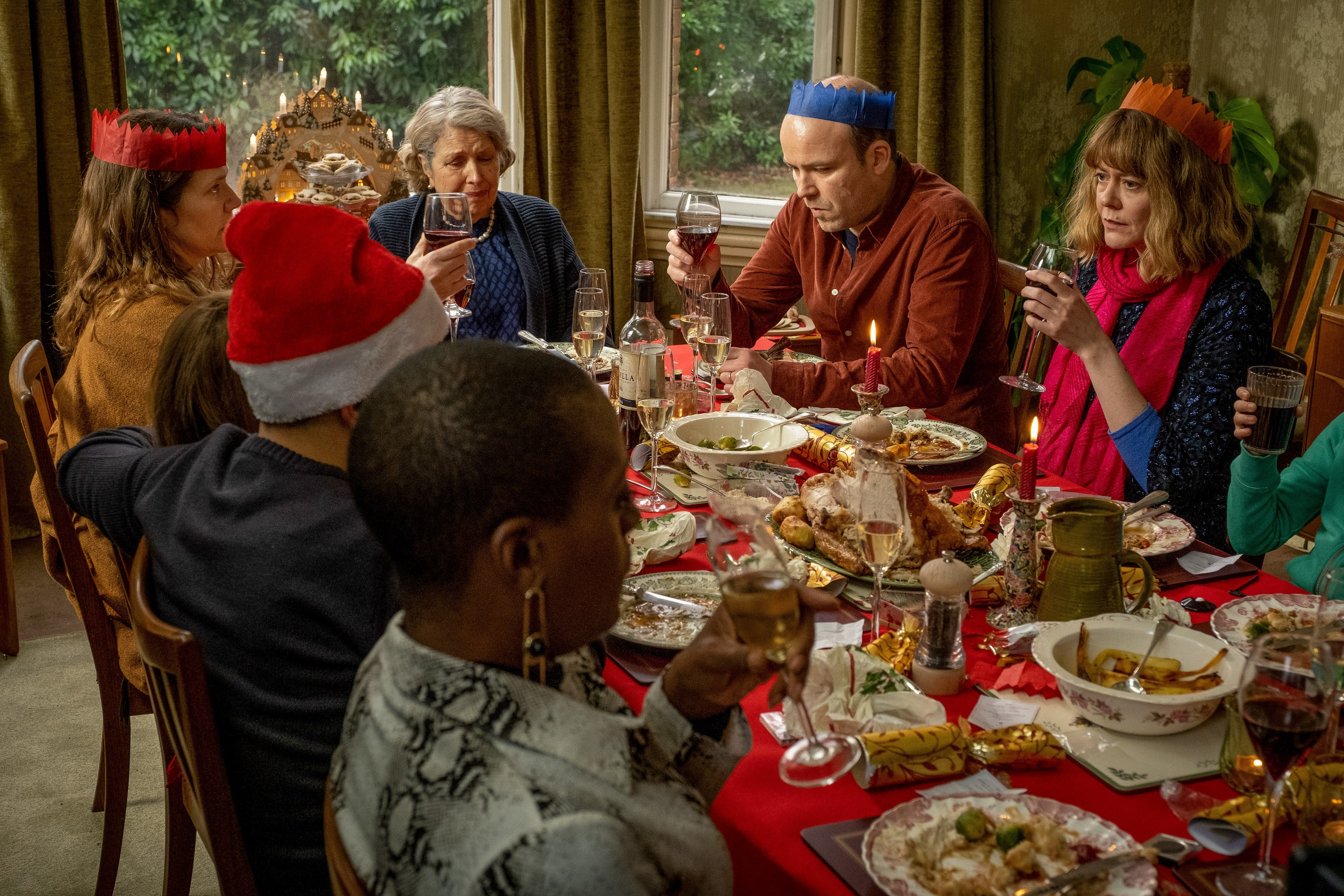 The Lyons family in Episode 5 of the BBC and HBO show Years and Years