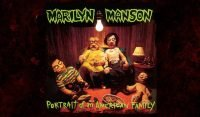 The album cover for Marilyn Manson's Portrait of an American family.