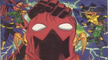 DC Zero Hour begins with a hand holding an empty mask of the Flash.