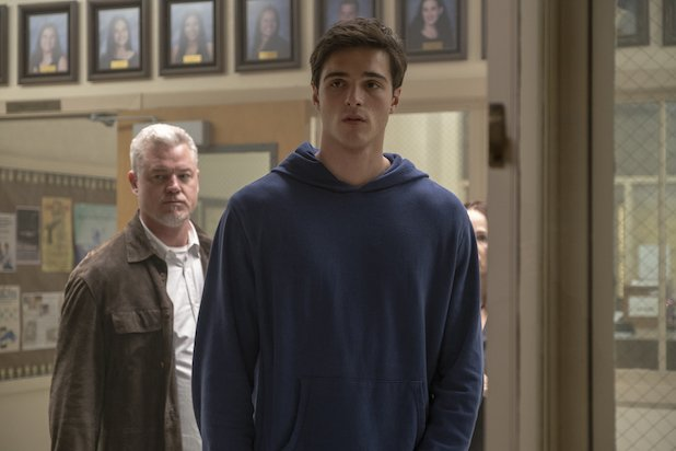Nate and his father Cal Jacobs in the principals office, Euphoria, Season 1 Episode 5