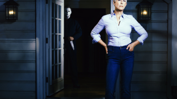 Jamie Lee Curtis in the released promo photo for Halloween 2018