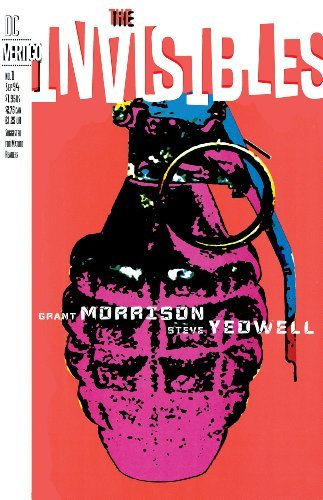 Invisibles #1 has a Grenade front and ceneter on a blank background. Art by Steve Yeowell.