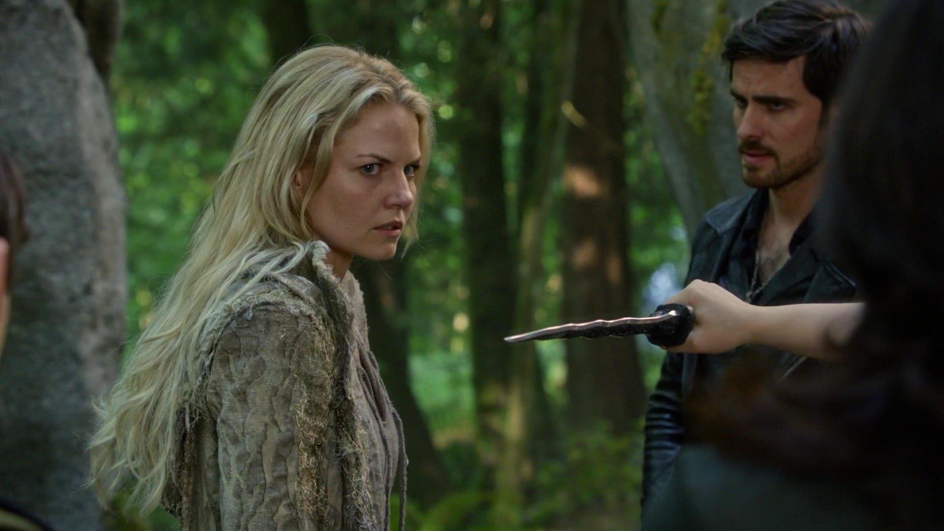 Emma Swan (Jennifer Morrison) battles within herself the Dark One Curse.