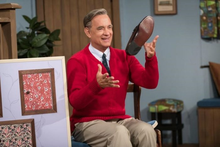 """Tom Hanks as Fred Rogers in """"Beautiful Day in the Neighborhood."""