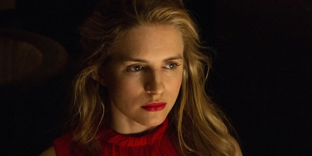 The OA wears red to an event in The OA