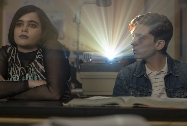 Kat and Ethan in science class, Euphoria, Season 1, Episode 5