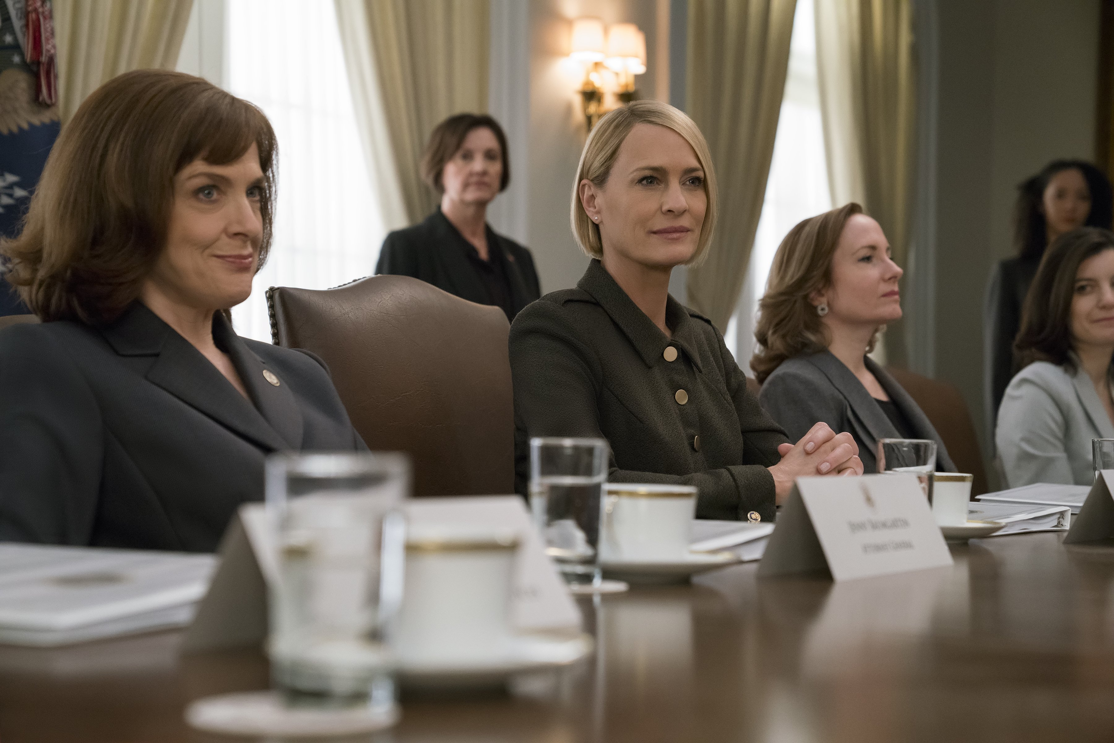 Claire Underwood and her all female cabinet