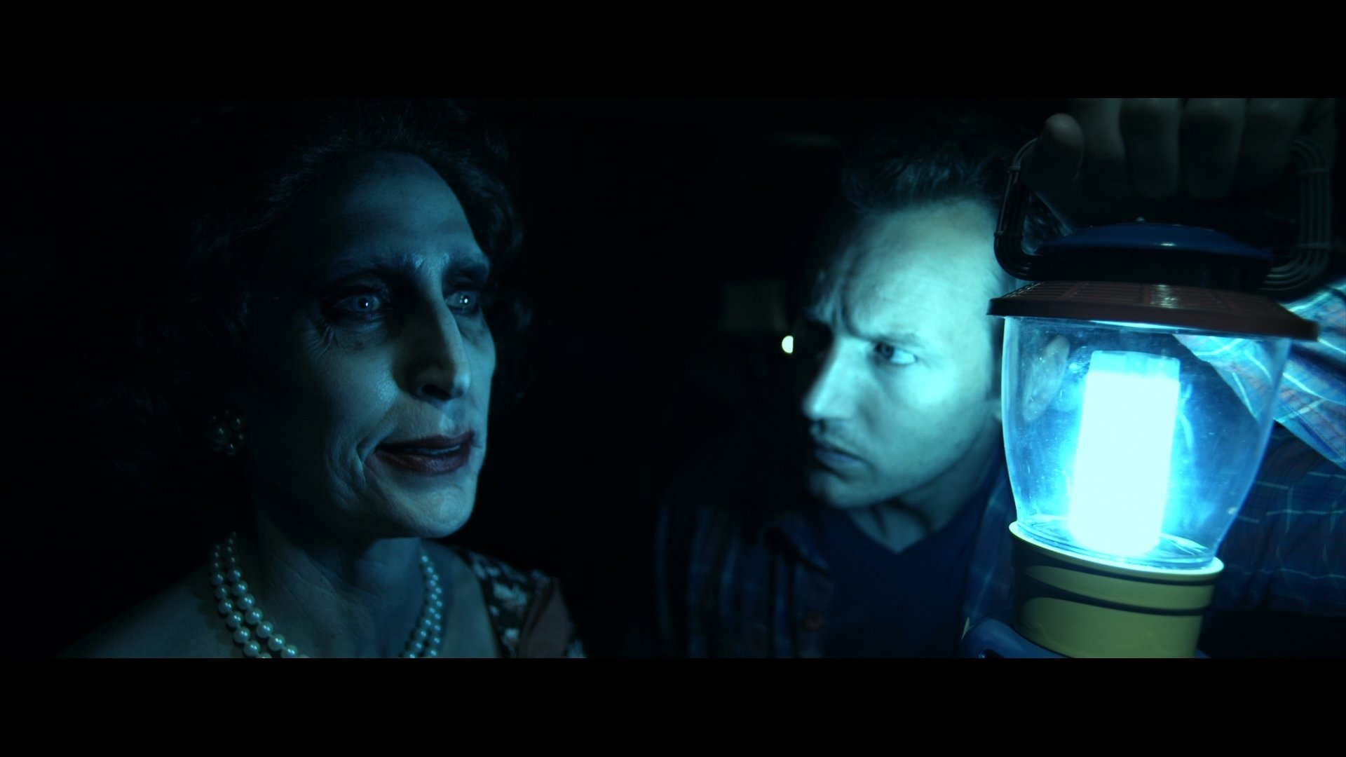 Patrick Wilson (right) travels intro the furhter in James Wan's Insidious (2010).