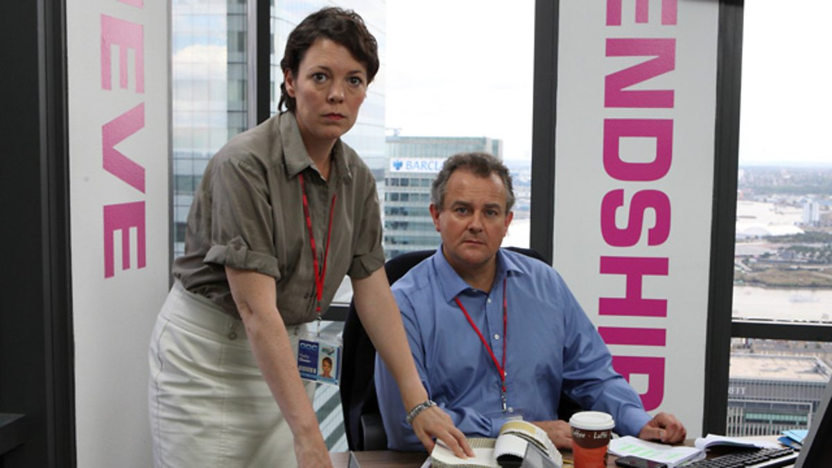 Olivia Colman and Hugh Bonneville as Sally and Ian in the BBC comedy Twenty Twelve