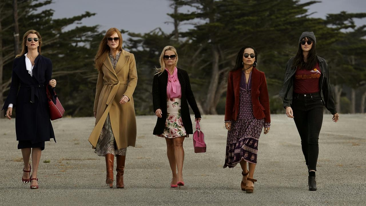 The leading ladies in the opening credits to HBO's Big Little Lies