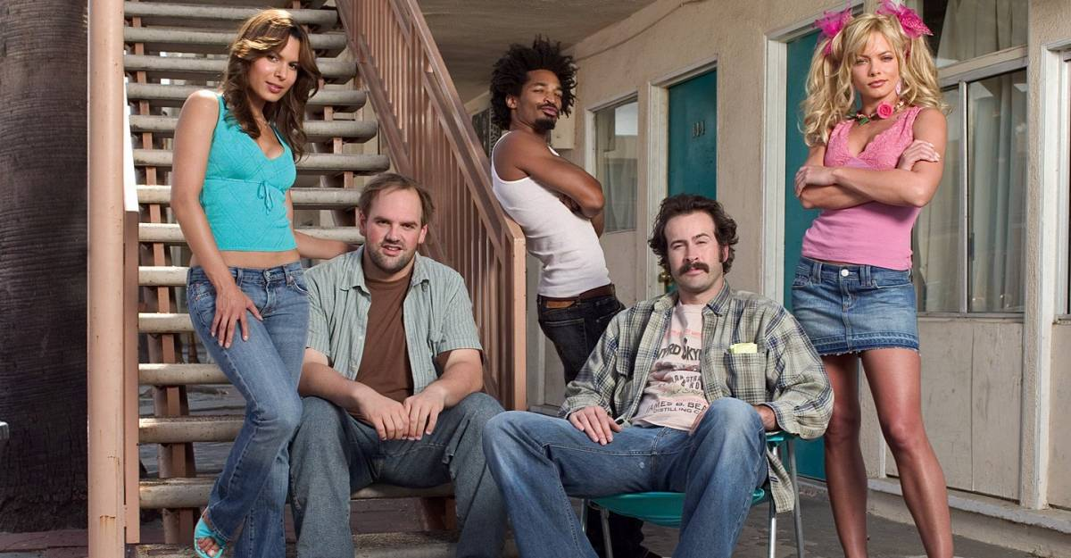From left to right: Catalina, Randy, Crabman, Earl, and Joy pose looking at the camera