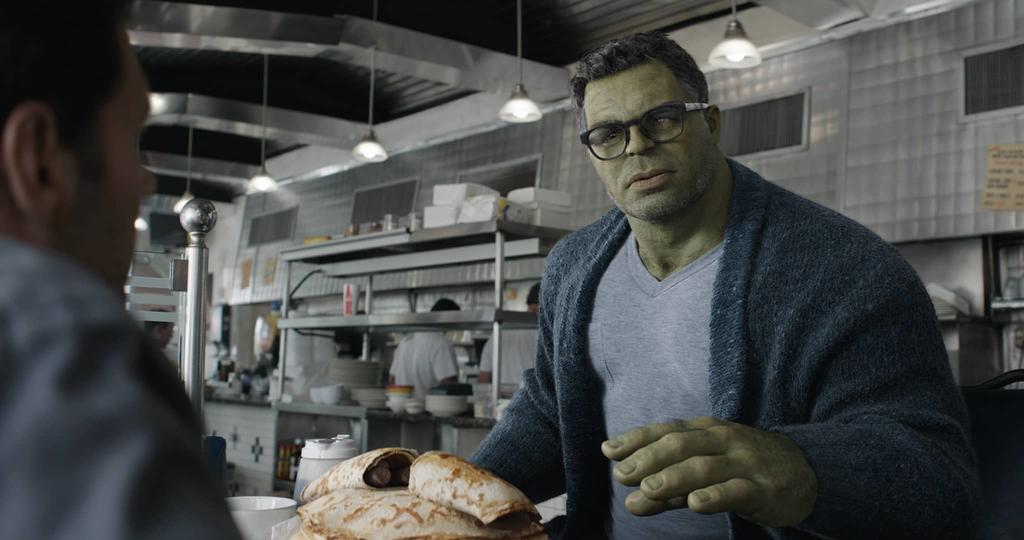 Professor Hulk providing exposition in Avengers: Endgame
