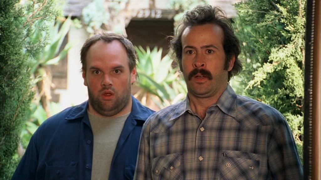Randy and Earl Hickey stand looking surprised
