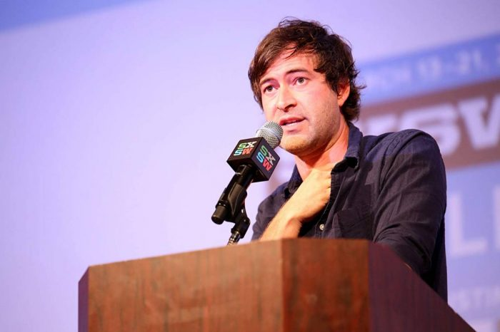 Mark Duplass delivers his keynote speech at SXSW 2015.