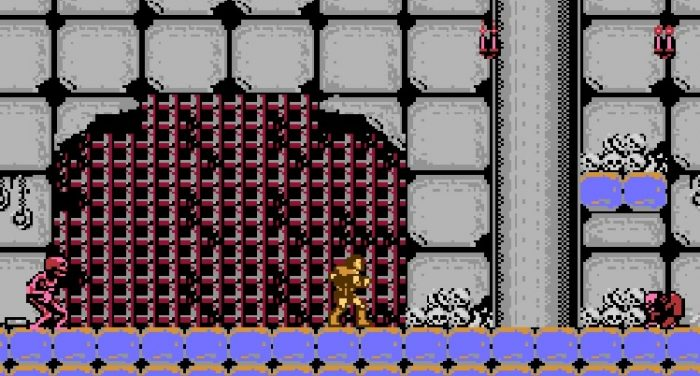Stage 13 is a dank, gray area with bones piled up against the walls. Hunchbacks and skeletons approach you.