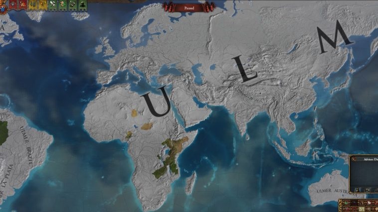 Map of the World Featuring SuperNation Ulm