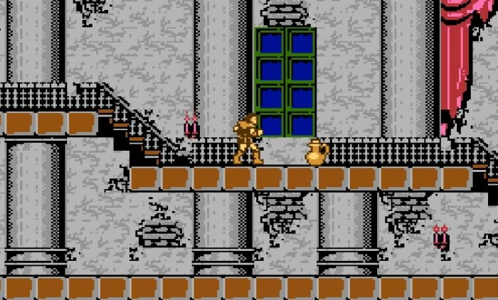 Simon finds a Yellow Vase in Castlevania's first level.