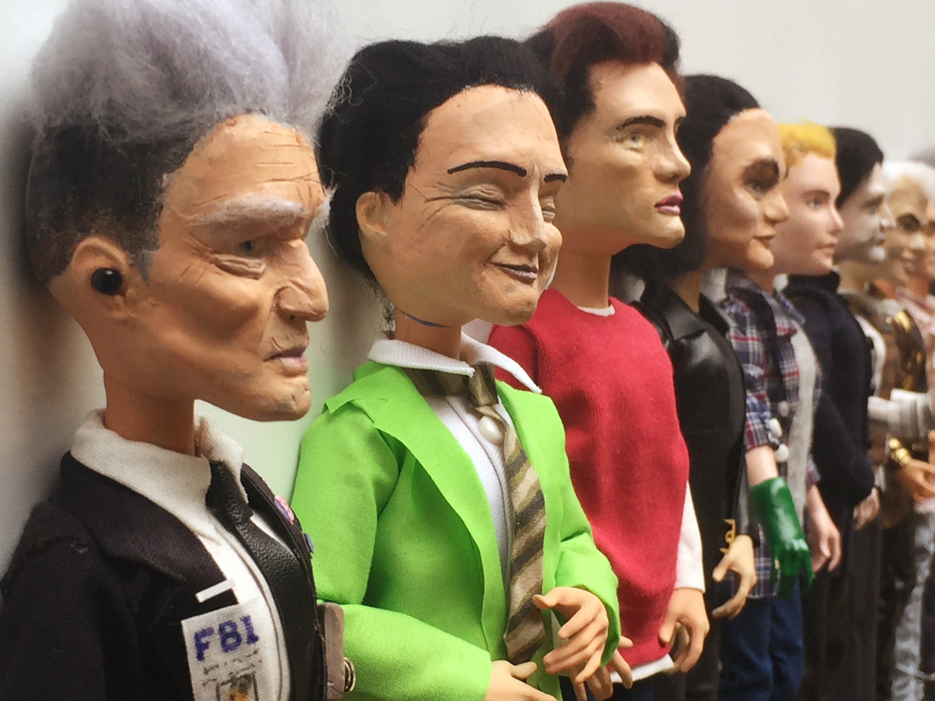 The Men of Lynch dolls lined up