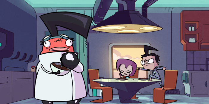 "Dib and Gaz arguing with their new ""dad"" in Enter the Florpus"