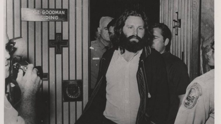 Jim Morrison after his arrest