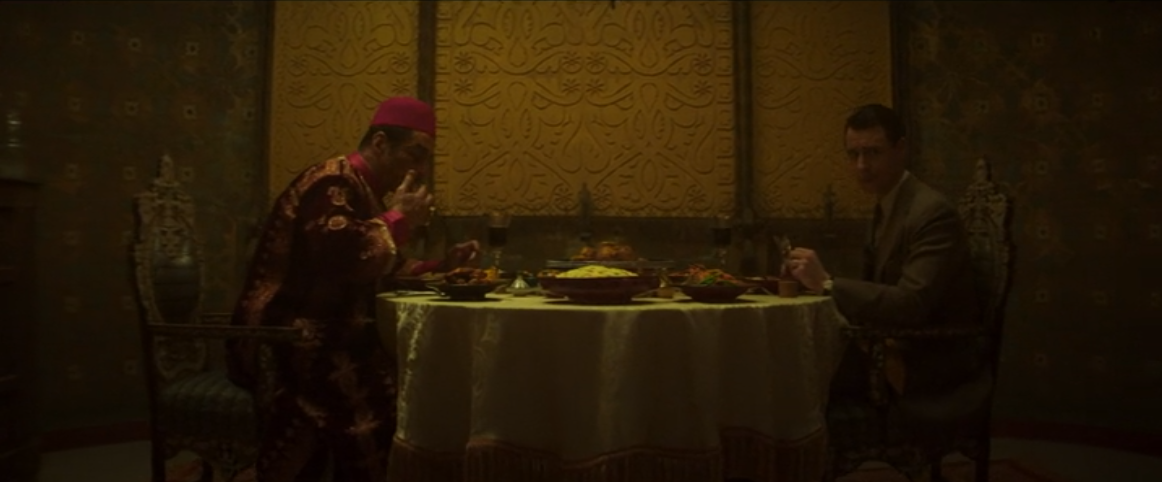 Charles and Farouk eat dinner together