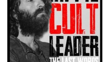 Charles Manson on the cover of Hippie Cult Leader