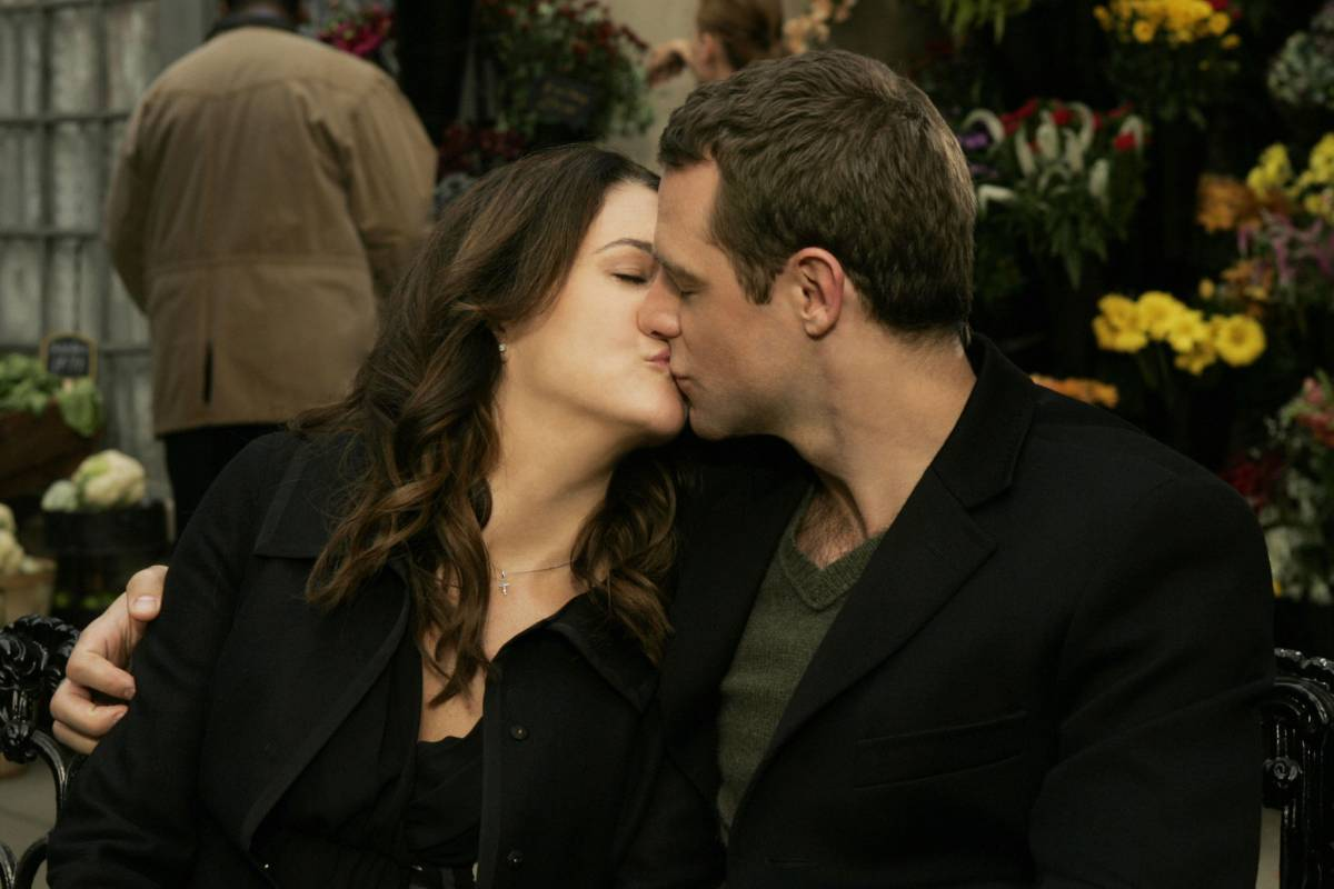 Lorelai and Christopher kiss