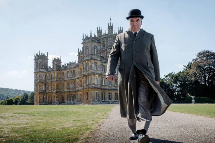 Mr. Carson comes out of retirement to help Downton Abbey host the King and Queen