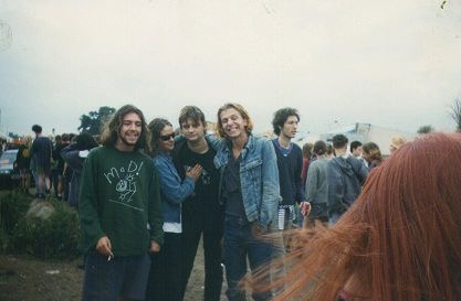 In a crowd of festival goers, Laura Stewart took a candid picture of the band dEUS at a festival they were both attending.