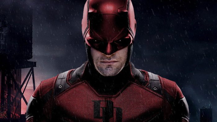 Promo mid shot of Daredevil in costume