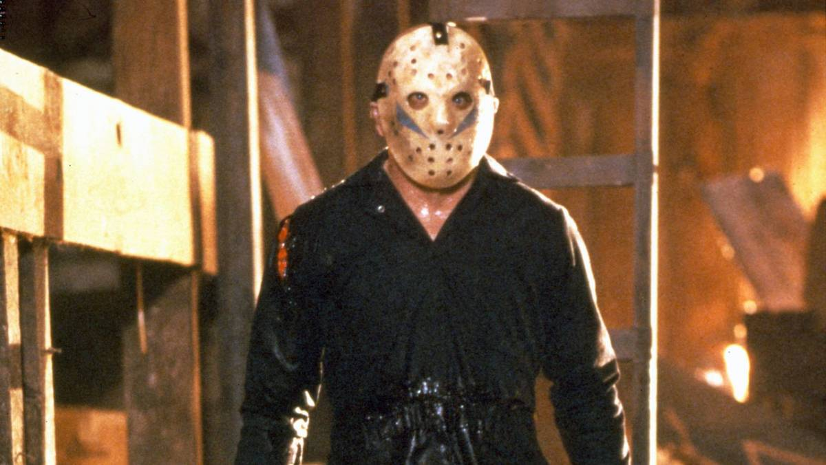 Jason Voorhees in hockey mask and boiler suit