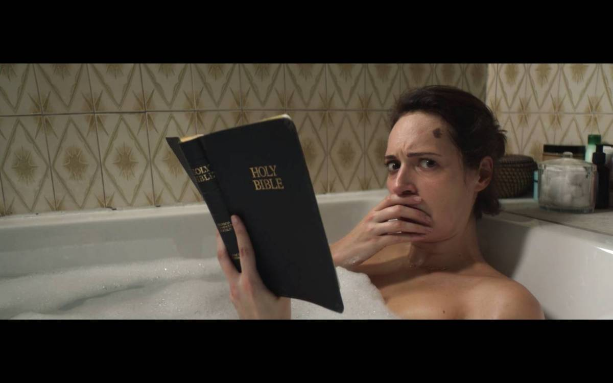 Fleabag reads the Bible in the bathtub and is shocked by what she reads