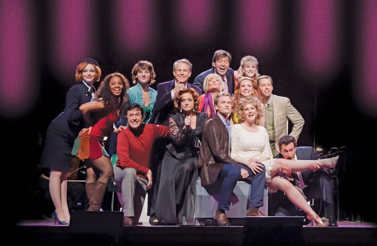 Full cast shot of the Neil Patrick Harris production of Company