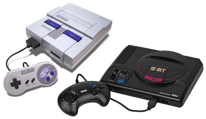 Super Nintendo and Sega Mega Drive consoles from 1994