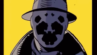 An image of Rorschach from the comics