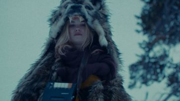 Aubrey (Virginia Gardner) dons protective warm weather gear and the mixtape that wards off evil.