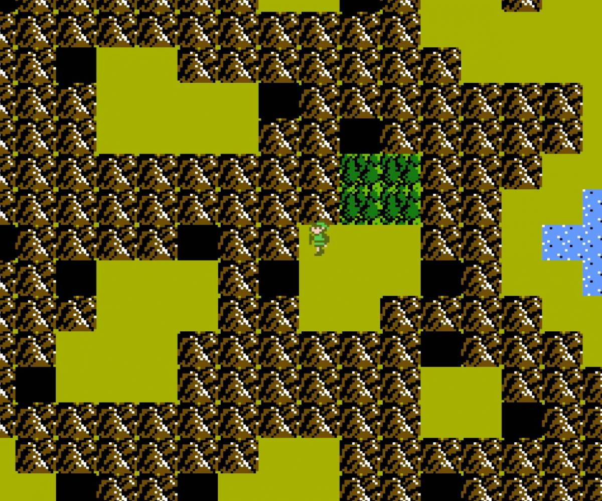 Link navigates through the maze of Death Mountain.