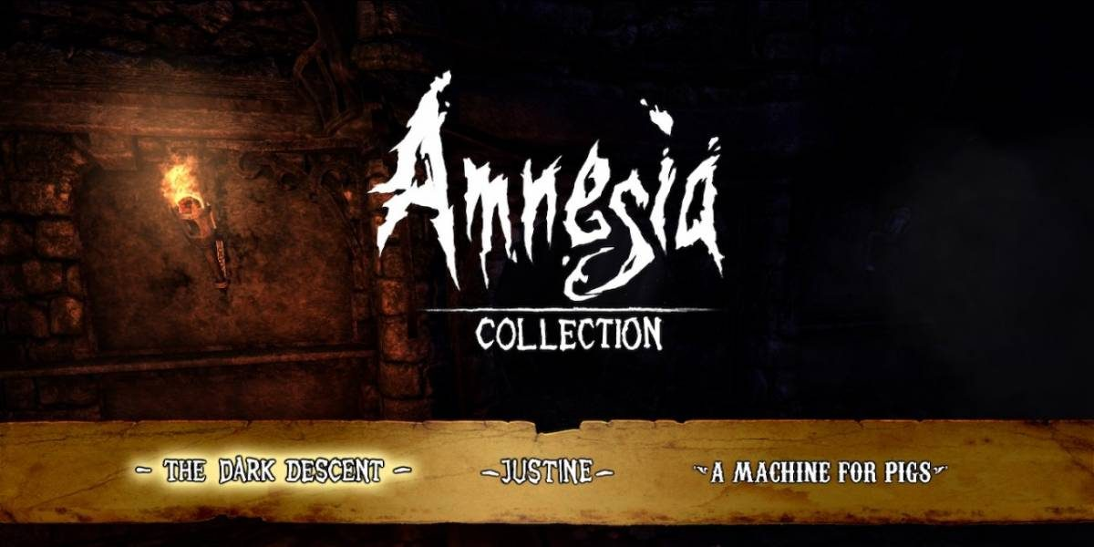 Amnesia Collection title screen