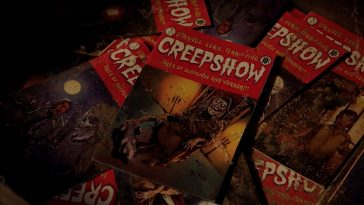 A pile of Creepshow comic books.