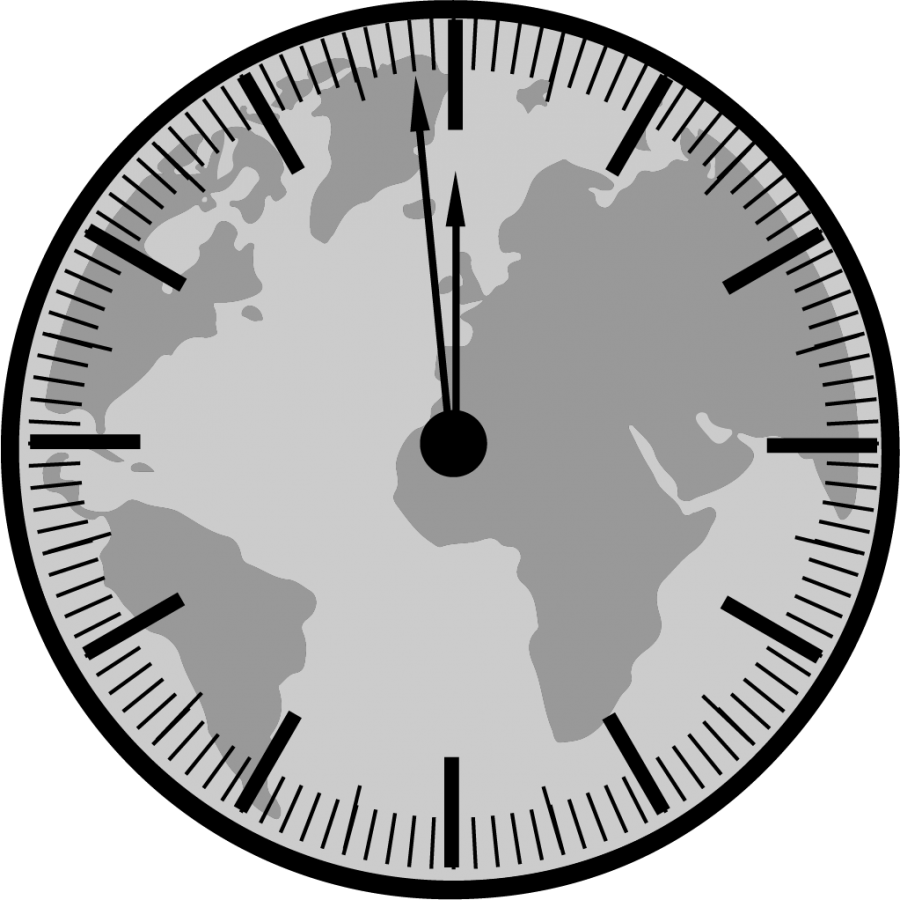 The Doomsday clock close to midnight