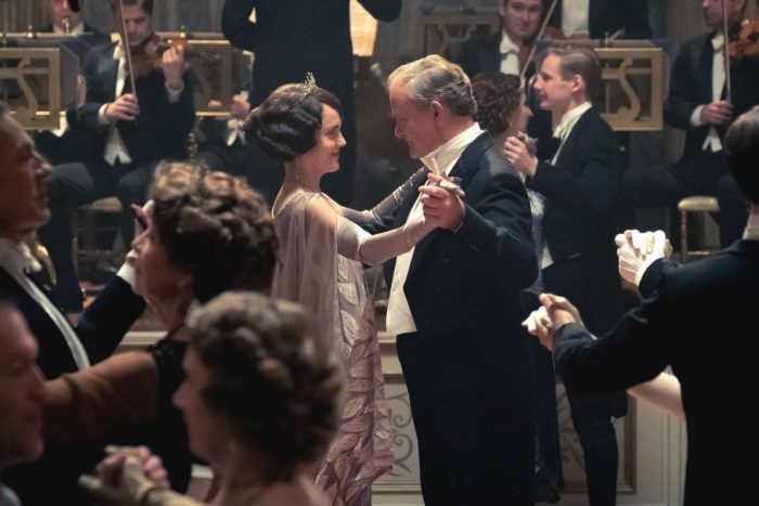 Lord and Lady Crawley dance at the ball celebrating the King and Queen's visit