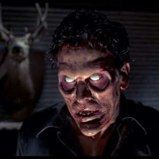 bruce campbell becomes the undead in Evil dead 2
