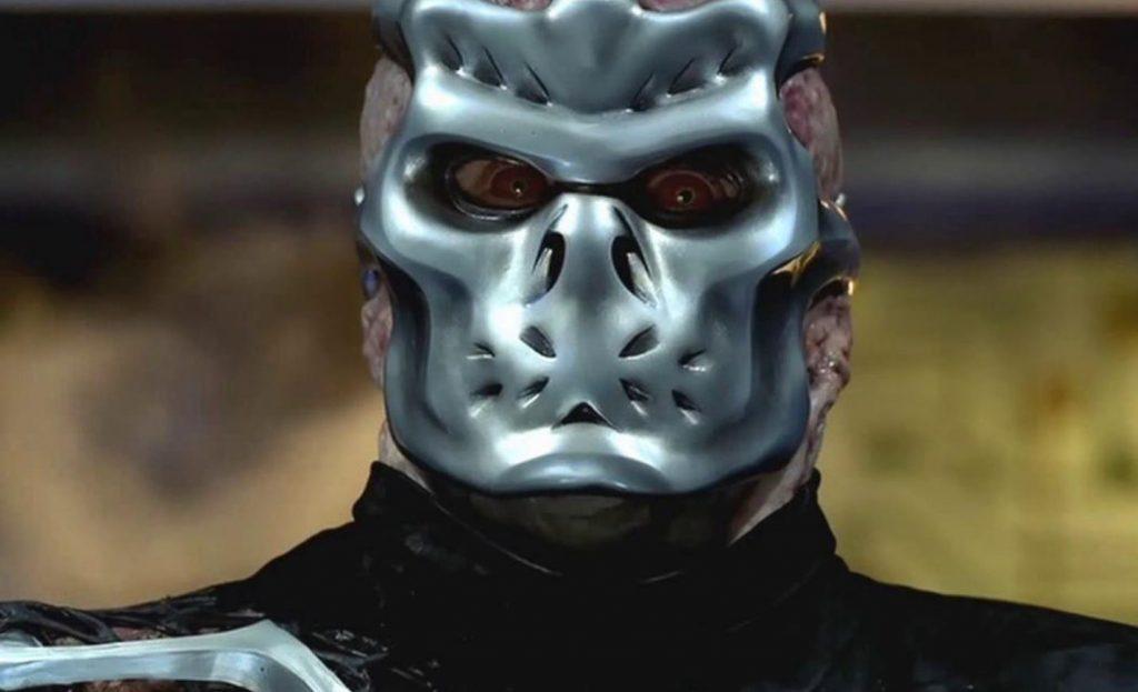 jason x with futuristic metal mask
