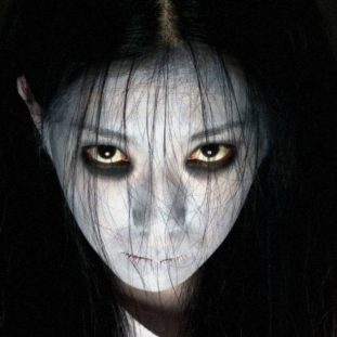A ghostly japanese girl