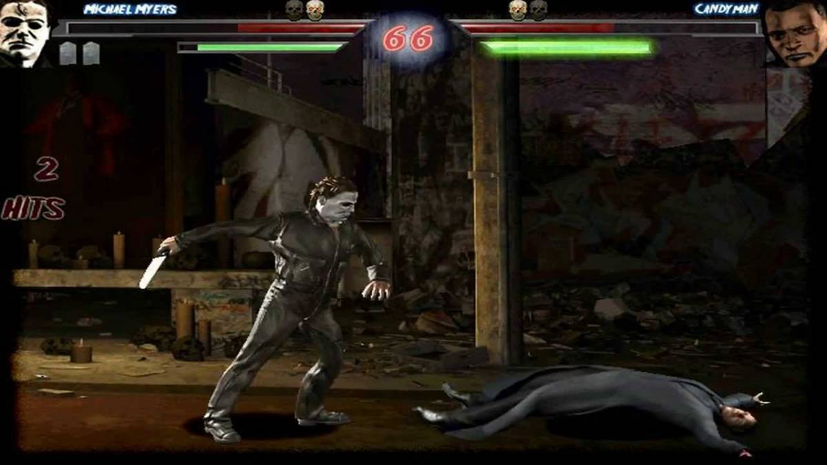 Michael fights Candyman in the fan made game Terrordrome.