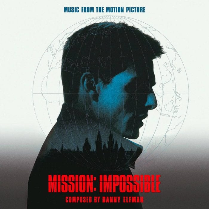 Tom Cruise on the cover of the Mission: Impossible soundtrack